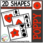 Shape Clip Cards: Poppy - Veterans Day ~Digital Download~