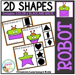 Shape Clip Cards: Robot ~Digital Download~