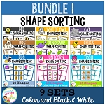 Shape Sorting Mats: Bundle 1 ~Digital Download~