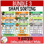 Shape Sorting Mats: Bundle 3 ~Digital Download~