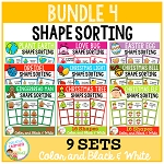 Shape Sorting Mats: Bundle 4 ~Digital Download~