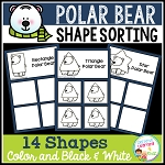 Shape Sorting Mats: Polar Bear ~Digital Download~
