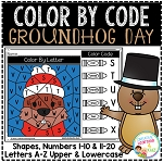 Color By Code Worksheets: Groundhog Day ~Digital Download~