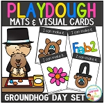 Playdough Mats & Visual Cards: Groundhog Day Set ~Digital Download~