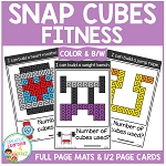 Snap Cubes Activity - Fitness ~Digital Download~