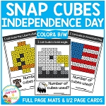 Snap Cubes Activity - Independence Day ~Digital Download~