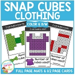 Snap Cubes Activity - Clothing ~Digital Download~