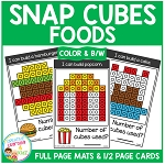 Snap Cubes Activity - Foods ~Digital Download~