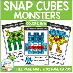Snap Cubes Activity - Monsters ~Digital Download~