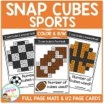 Snap Cubes Activity - Sports ~Digital Download~