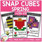 Snap Cubes Activity - Spring ~Digital Download~