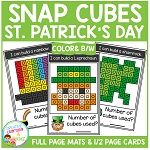 Snap Cubes Activity - St. Patrick's Day ~Digital Download~