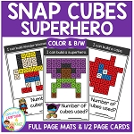 Snap Cubes Activity - Superhero ~Digital Download~