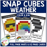 Snap Cubes Activity - Weather ~Digital Download~