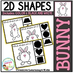 Shape Clip Cards: Bunny ~Digital Download
