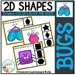 Shape Clip Cards: Bugs ~Digital Download~