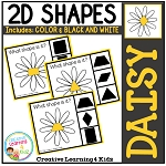 Shape Clip Cards: Daisy ~Digital Download~