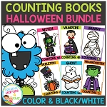 Ten Frame Counting Books: Halloween Bundle ~Digital Download~