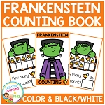Ten Frame Counting Book: Halloween Frankenstein ~Digital Download~