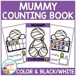 Ten Frame Counting Book: Halloween Mummy ~Digital Download~