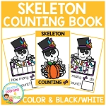 Ten Frame Counting Book: Halloween Skeleton ~Digital Download~