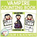 Ten Frame Counting Book: Halloween Vampire ~Digital Download~