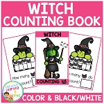 Ten Frame Counting Book: Halloween Witch ~Digital Download~