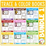 Trace & Color Books + Tracing Cards Bundle 1 Fine Motor Skills ~Digital Download~