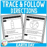 Trace & Follow Directions Worksheets: Earth Day ~Digital Download~