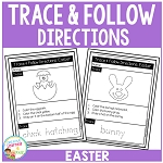 Trace & Follow Directions Worksheets: Easter ~Digital Download~