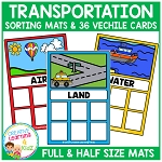 Transportation Sorting Mats + Cards ~Digital Download~