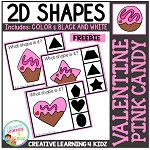 Shape Clip Cards: Valentine Pink Candy ~Digital Download~
