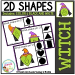 Shape Clip Cards: Witch ~Digital Download~