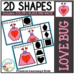 Shape Clip Cards: Love Bugs Valentine's Day ~Digital Download~