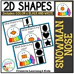 Shape Clip Cards: Snowman Nose ~Digital Download~
