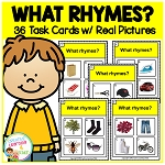 What Rhymes? Task Cards ~Digital Download~