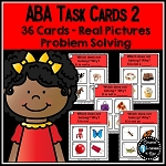 ABA Task Cards 2 Problem Solving ~Digital Download~
