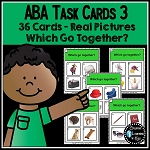 ABA Task Cards 3 Go Together ~Digital Download~