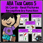 ABA Task Cards 5 Receptive by Function ~Digital Download~