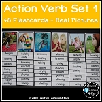 Action Verb Cards Set 1~Digital Download~