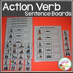 Action Verb Sentence Boards ~ Digital Download~