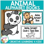 Animal Alphabet Interactive Book & Animal Alphabet Color & Trace Book  ~Digital Download~