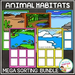 Animal Habitats Sorting Mats ~Digital Download~