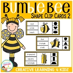 Bumble Bee Clip Cards 2 ~Digital Download~