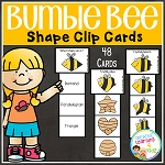 Bumble Bee Clip Cards ~Digital Download~