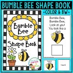 Shape Book Bumble Bee ~Digital Download~