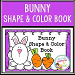 Bunny Shape & Color Book ~Digital Download~