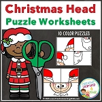 Christmas Head Puzzles ~Digital Download~