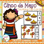 Cinco De Mayo Counting Clip Cards ~Digital Download~