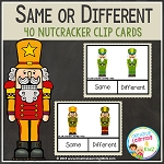 Same or Different Nutcracker Clip Cards ~Digital Download~